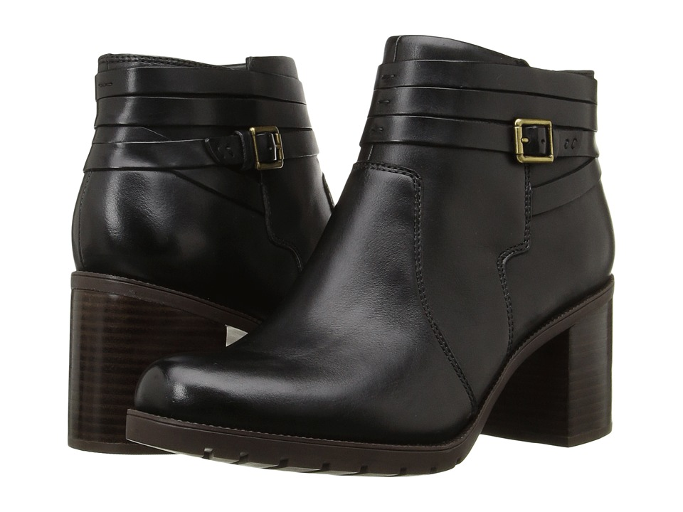 Clarks - Malvet Maria (Black Leather) Women's Boots