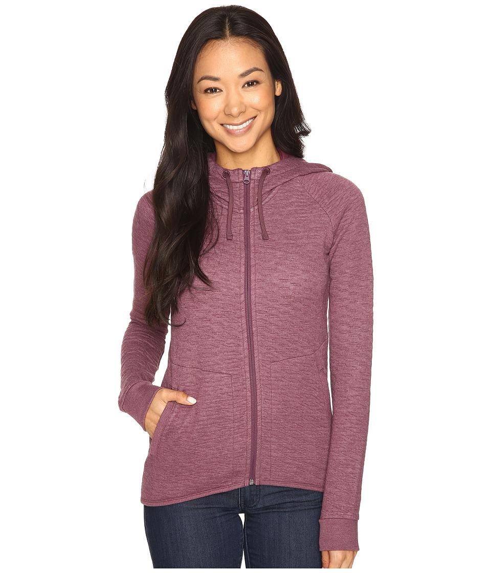 Merrell - Kota Quilted Full Zip Hoodie (Prune Purple Heather) Women's Sweatshirt