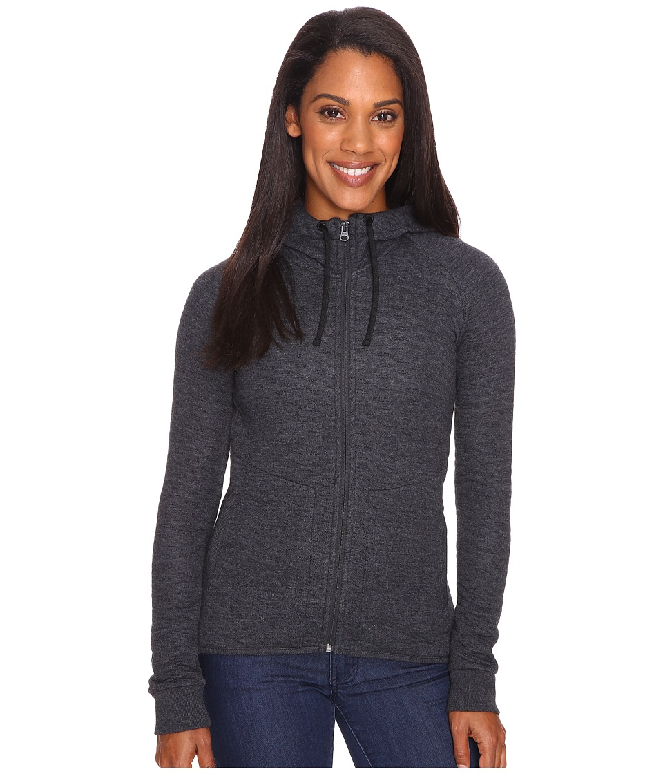 Merrell - Kota Quilted Full Zip Hoodie (Black Heather) Women's Sweatshirt