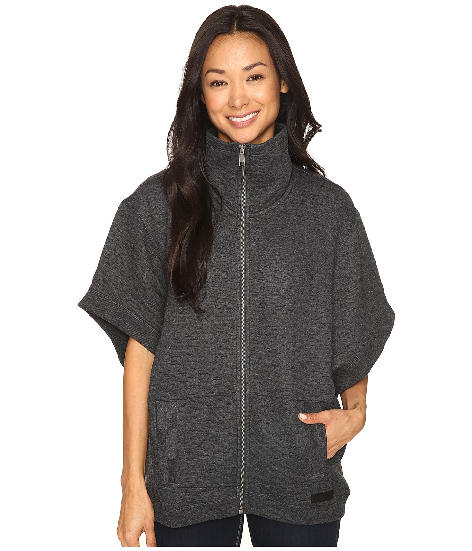 Merrell - Kota Quilted Poncho (Black Heather) Women's Clothing