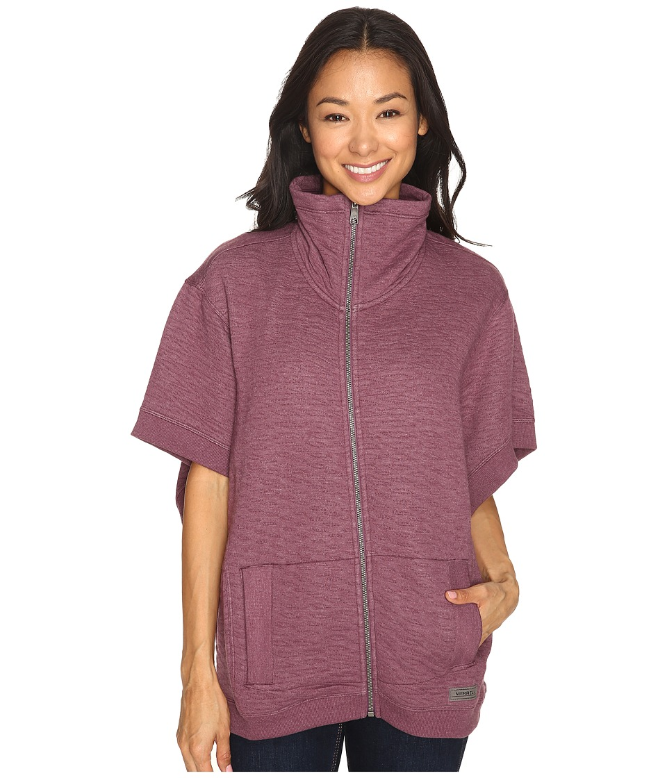 Merrell - Kota Quilted Poncho (Prune Purple Heather) Women's Clothing