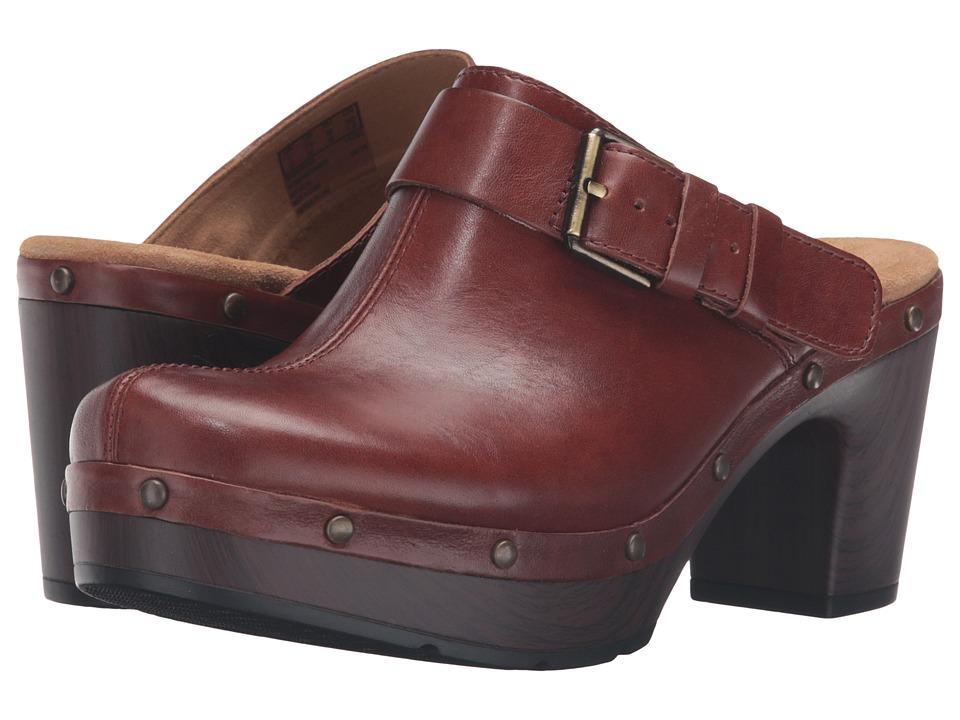 Clarks - Ledella York (Tan Leather) Women's Clog Shoes