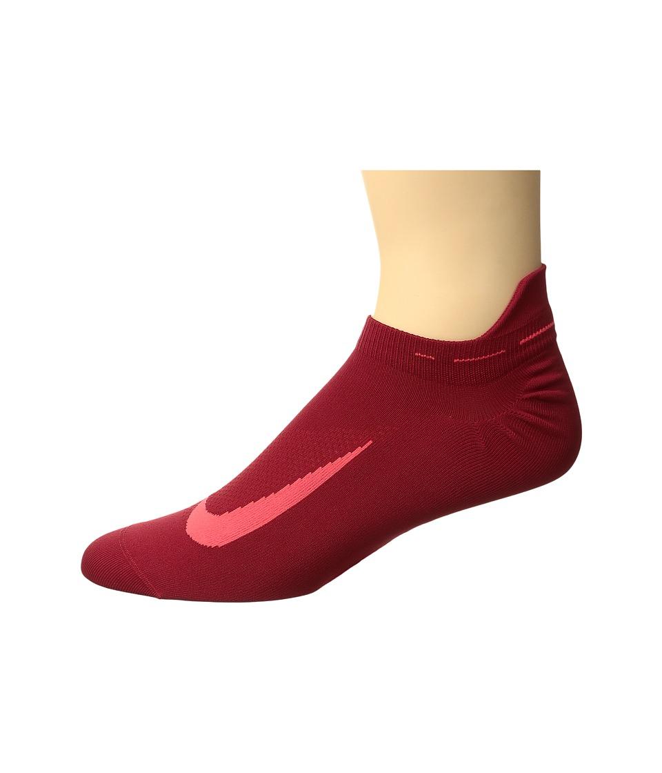 Nike Elite Running Lightweight No Show (Gym Red/Bright Crimson/Bright Crimson) No Show Socks Shoes