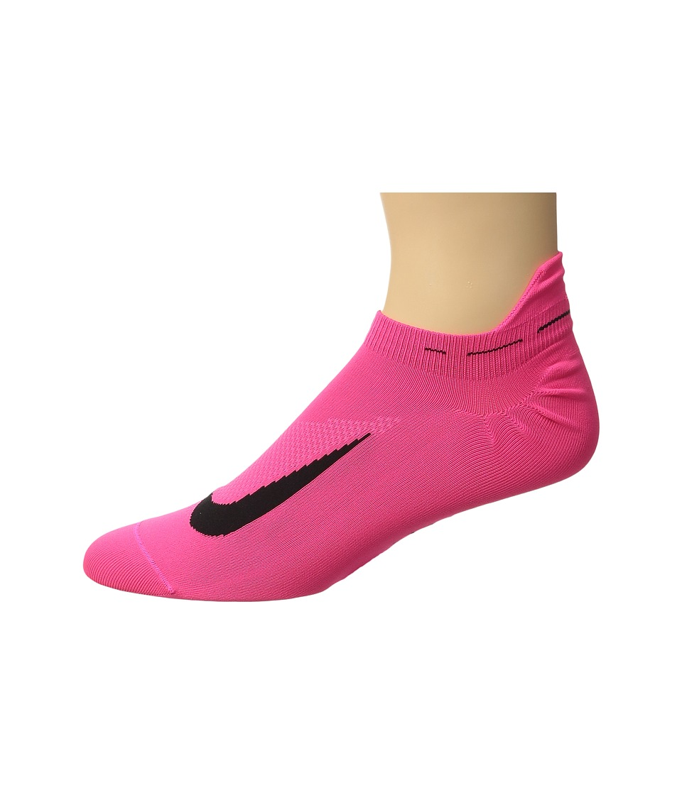 Nike - Elite Running Lightweight No Show (Hyper Pink/Black) No Show Socks Shoes
