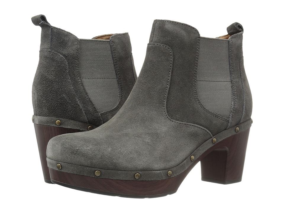 Clarks - Ledella Star (Dark Grey Suede) Women's Boots