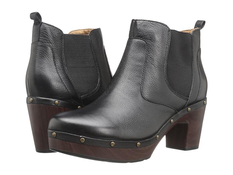 Clarks - Ledella Star (Black Leather) Women's Boots