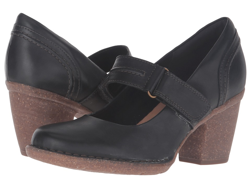 Clarks - Carleta Prato (Black Leather) Women's Shoes