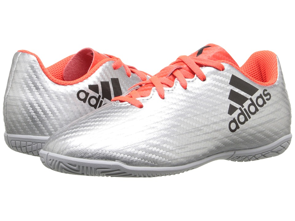 adidas Kids - X 16.4 IN Soccer (Little Kid/Big Kid) (Metallic Silver/Core Black/Solar Red) Kids Shoes