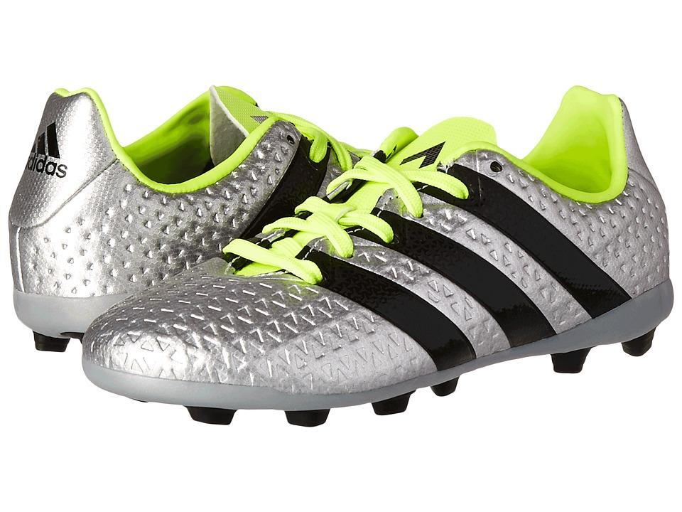 adidas Kids - Ace 16.4 FxG Soccer (Little Kid/Big Kid) (Metallic Silver/Core Black/Solar Yellow) Kids Shoes