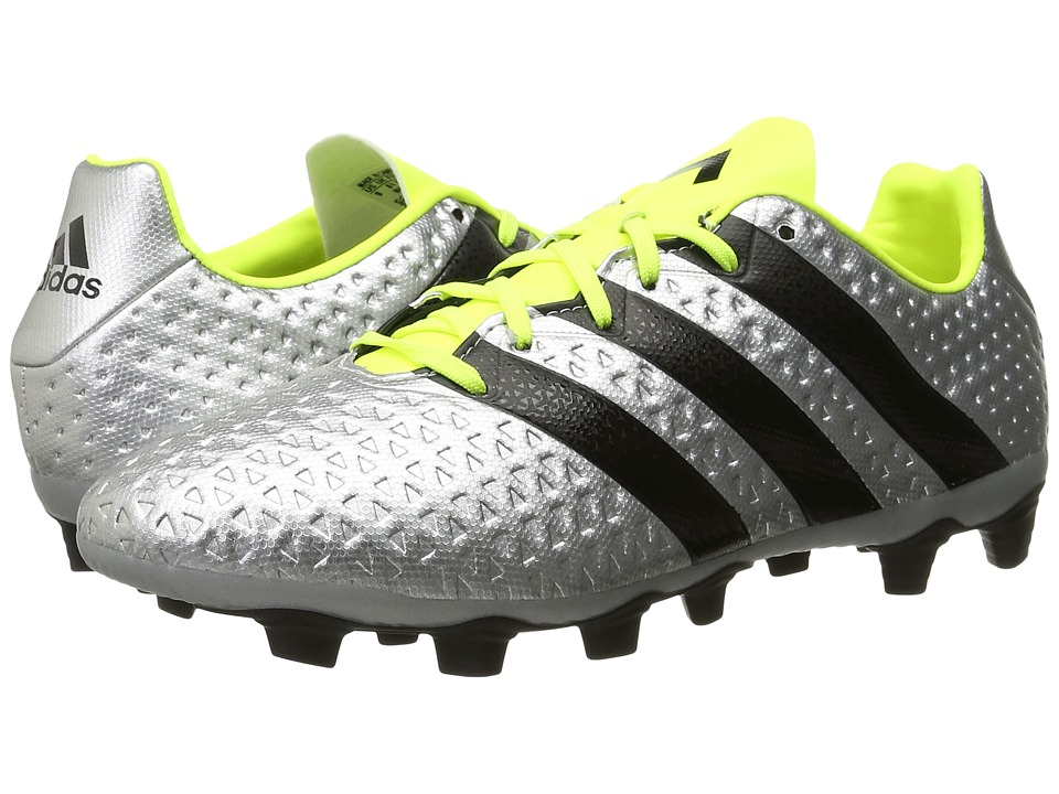 adidas - Ace 16.4 FxG (Metallic Silver/Core Black/Solar Yellow) Men's Soccer Shoes