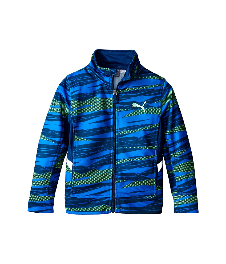 Puma Kids - Printed Tech Track Jacket (Little Kids) (Poseidon) Boy's Coat