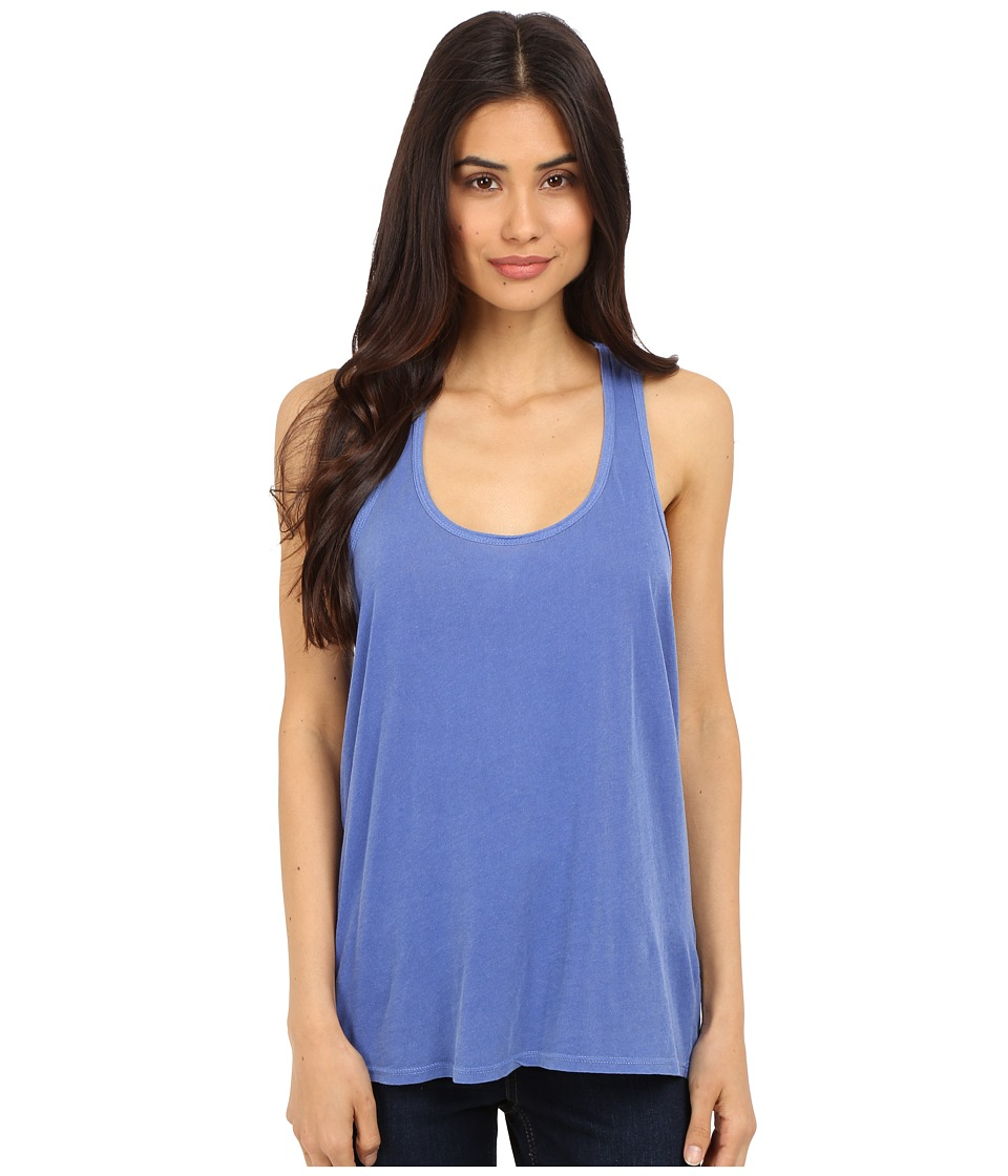 Splendid - Vintage Whisper Double Racerback Tank Top (Vintage Cobalt Blue) Women's Sleeveless plus size,  plus size fashion plus size appare