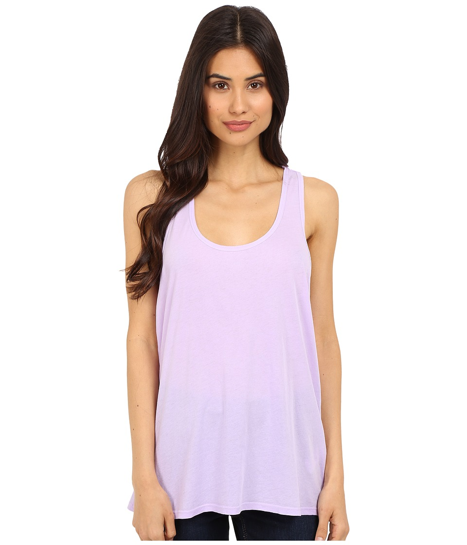 Splendid - Vintage Whisper Double Racerback Tank Top (Vintage Orchid Bloom) Women's Sleeveless