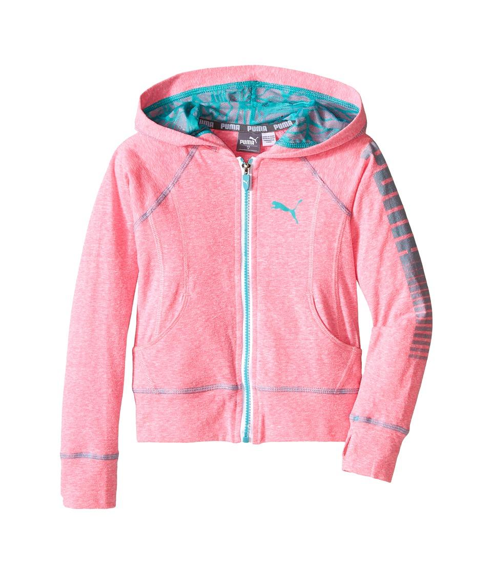 Puma Kids - Water Wave Hoodie (Little Kids) (Pink Glo) Girl's Sweatshirt