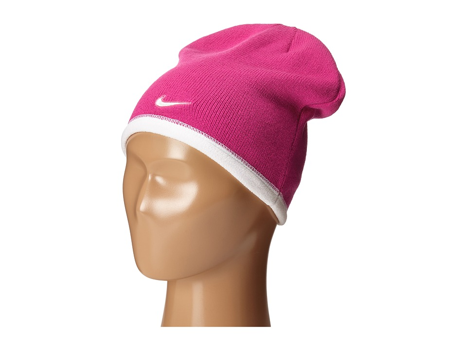 Nike - Reversible Beanie (Little Kids/Big Kids) (Vivid Pink/White/White) Beanies