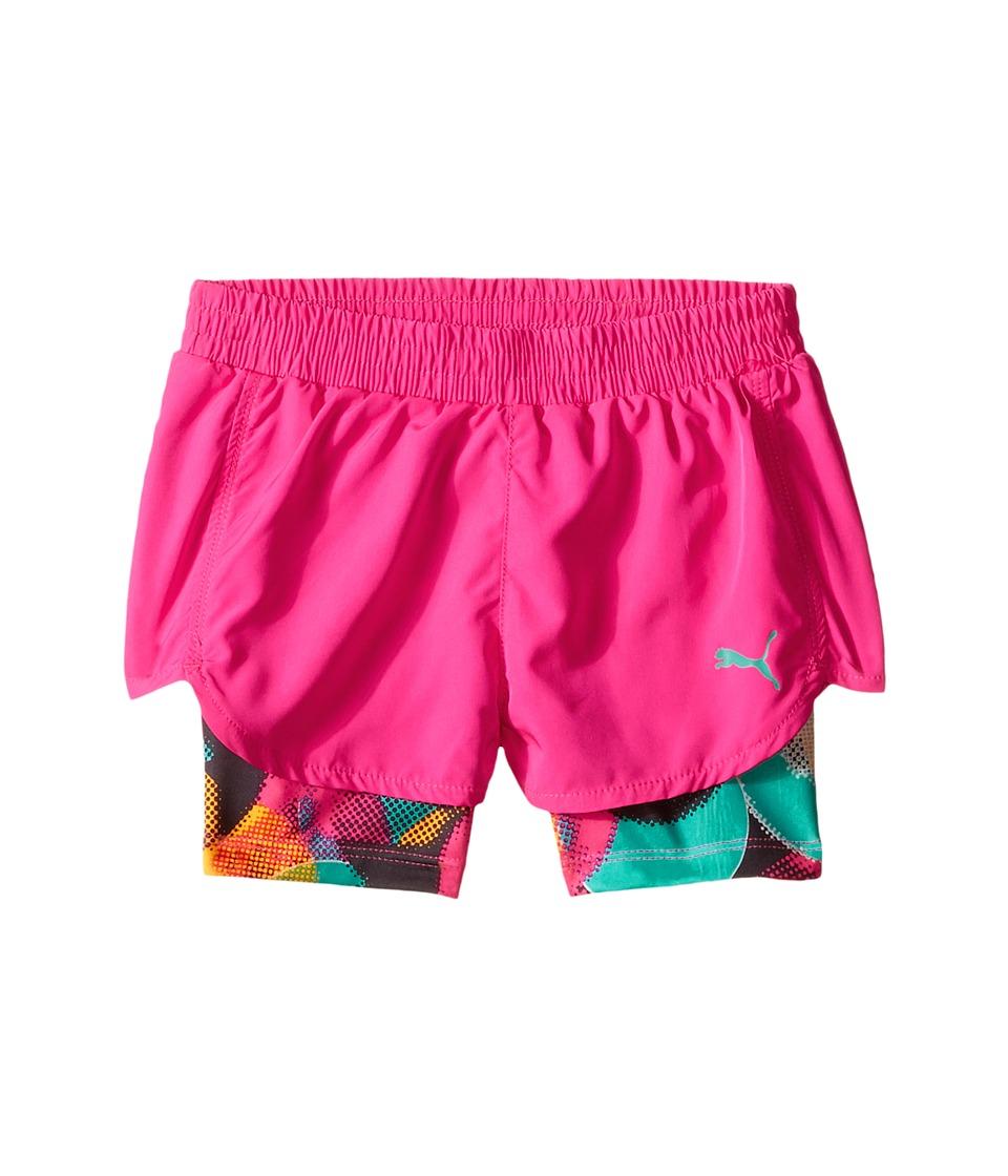 Puma Kids - Bubble Running Shorts (Little Kids) (Pink Glo) Girl's Shorts
