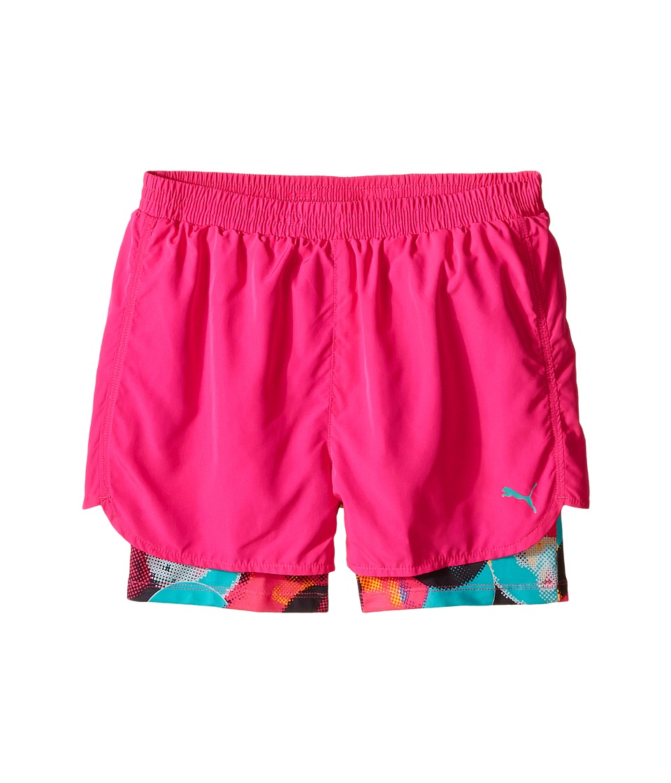 Puma Kids - Bubble Running Shorts (Big Kids) (Pink Glo) Girl's Shorts