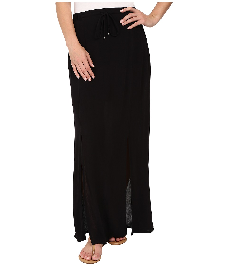 Splendid - Rayon Crinkle Gauze Maxi Skirt (Black) Women's Skirt plus size,  plus size fashion plus size appare