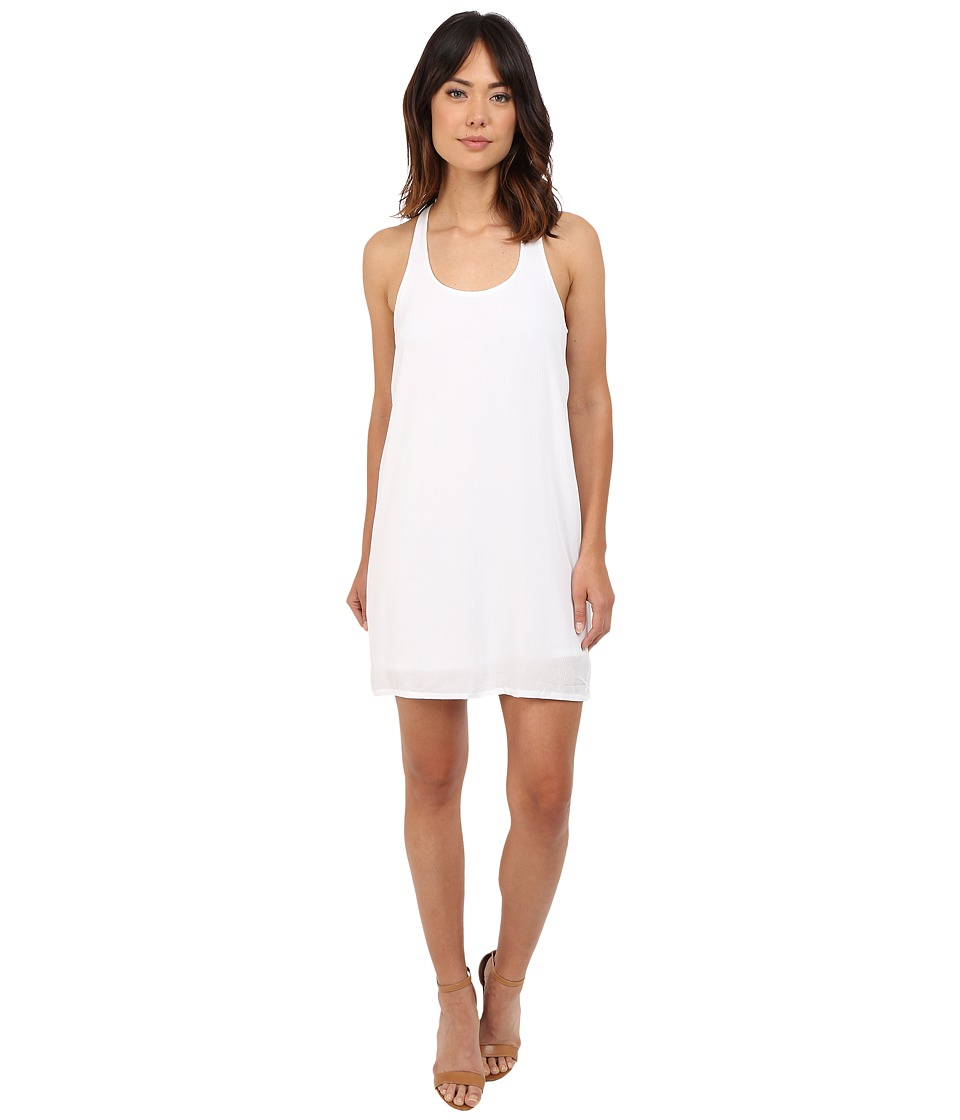 Splendid Rayon Crinkle Gauze Tank Dress (White) Women