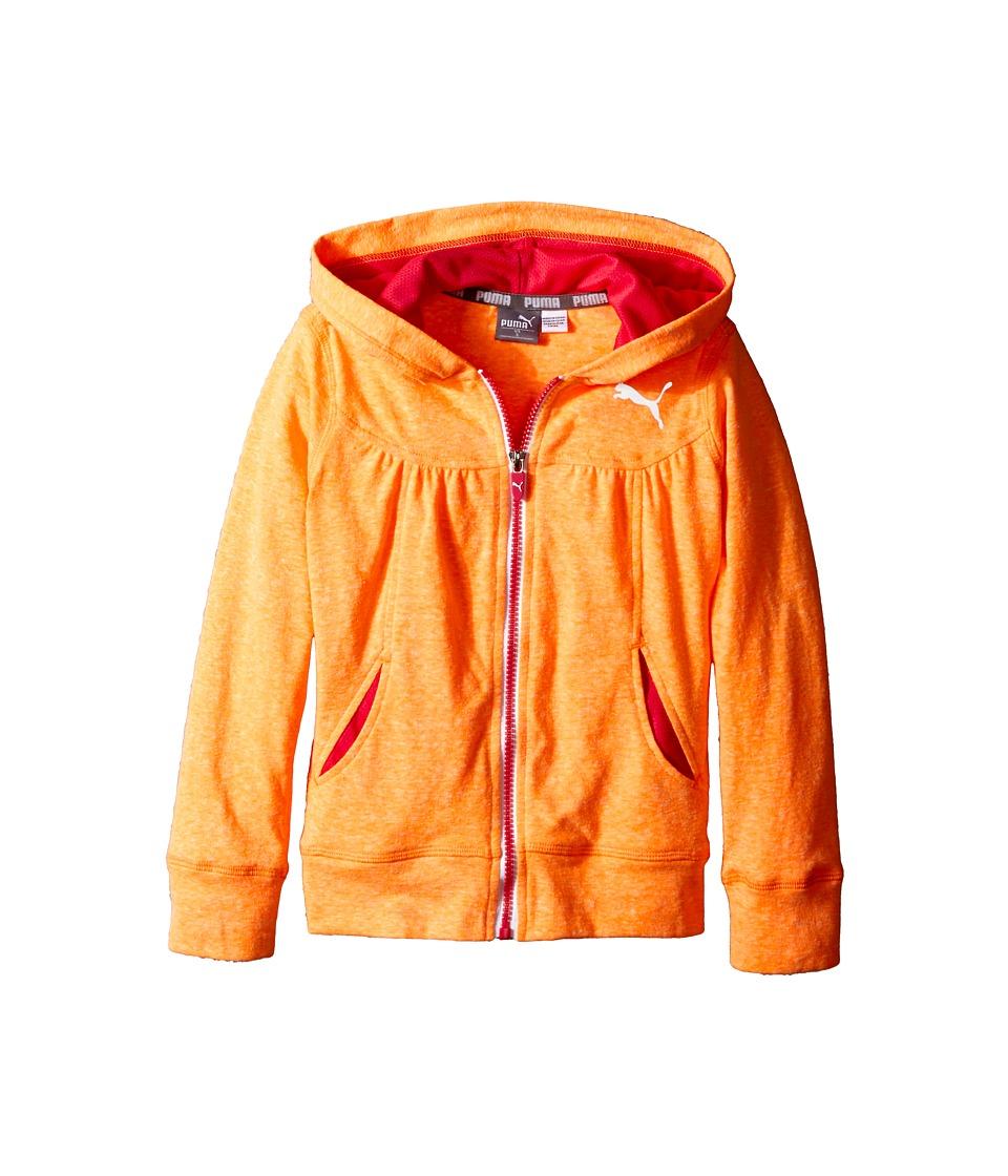 Puma Kids - Swirl Hoodie (Little Kids) (Orange Pop) Girl's Sweatshirt