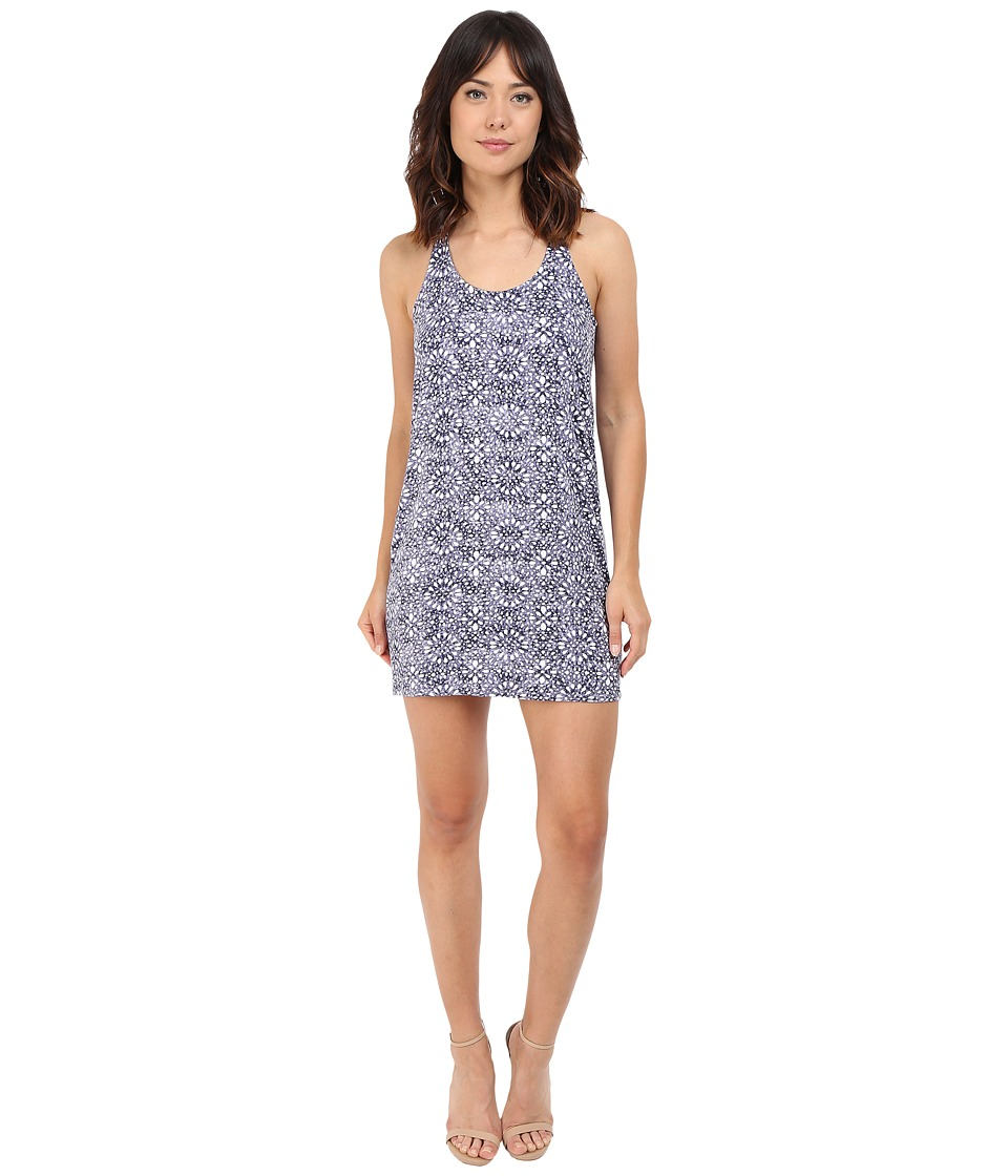 Splendid Circle Trellis Tank Dress (Navy) Women