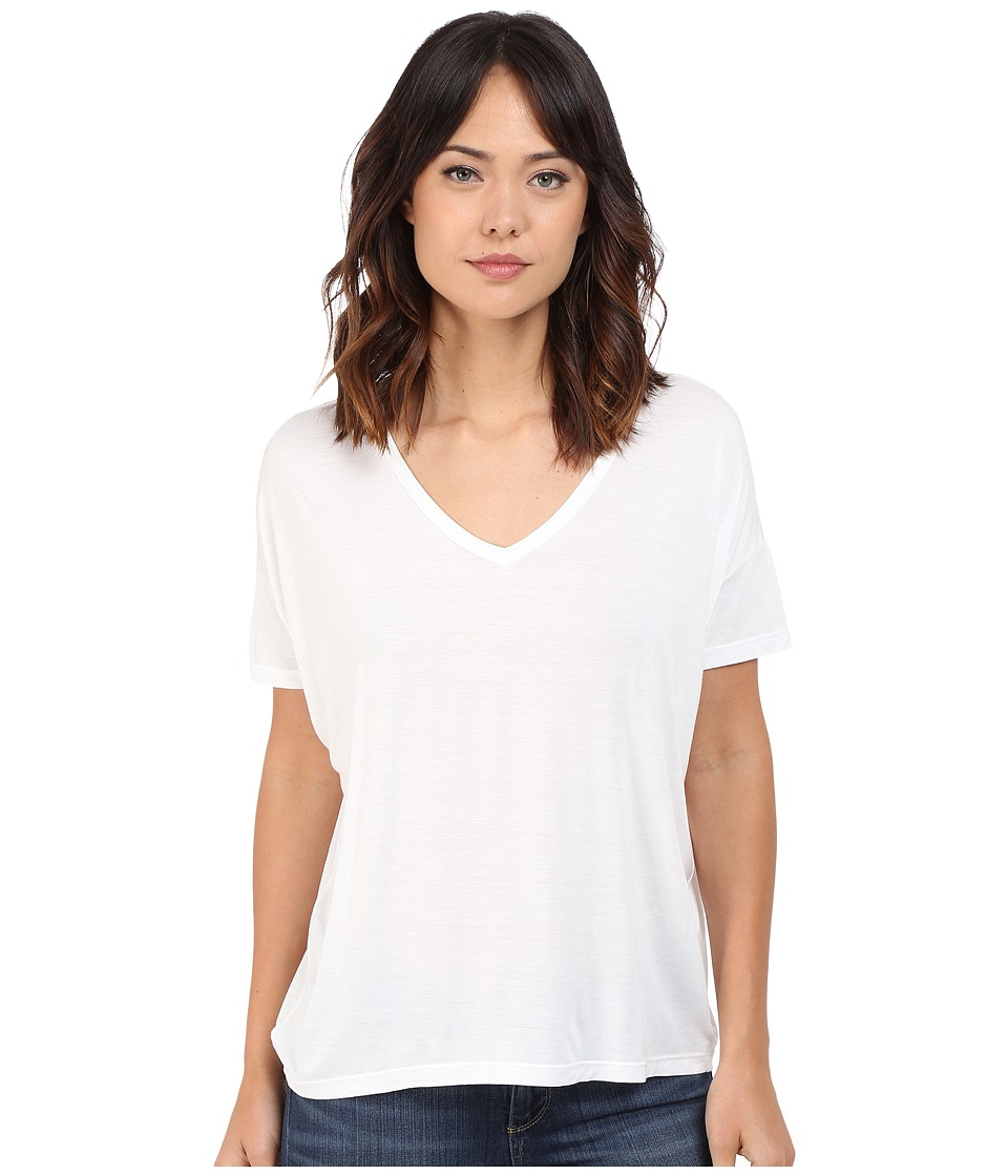 Splendid Rayon Jersey Wedge Tee (White) Women