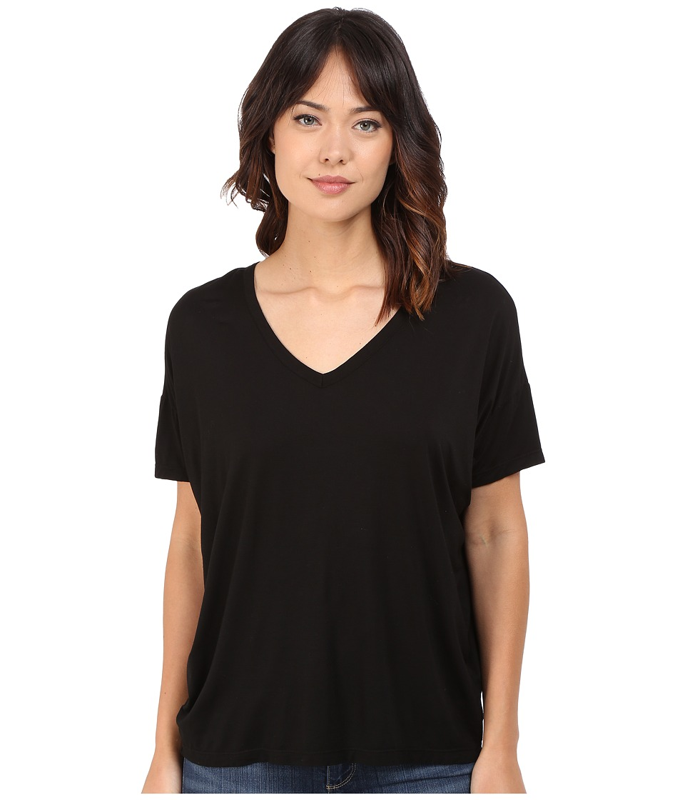 Splendid - Rayon Jersey Wedge Tee (Black) Women's T Shirt