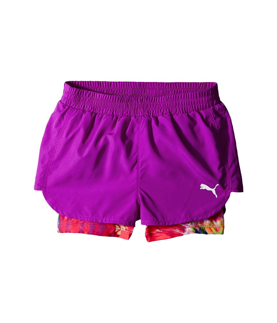 Puma Kids - Swirl Running Shorts (Little Kids) (Purple Cactus) Girl's Shorts