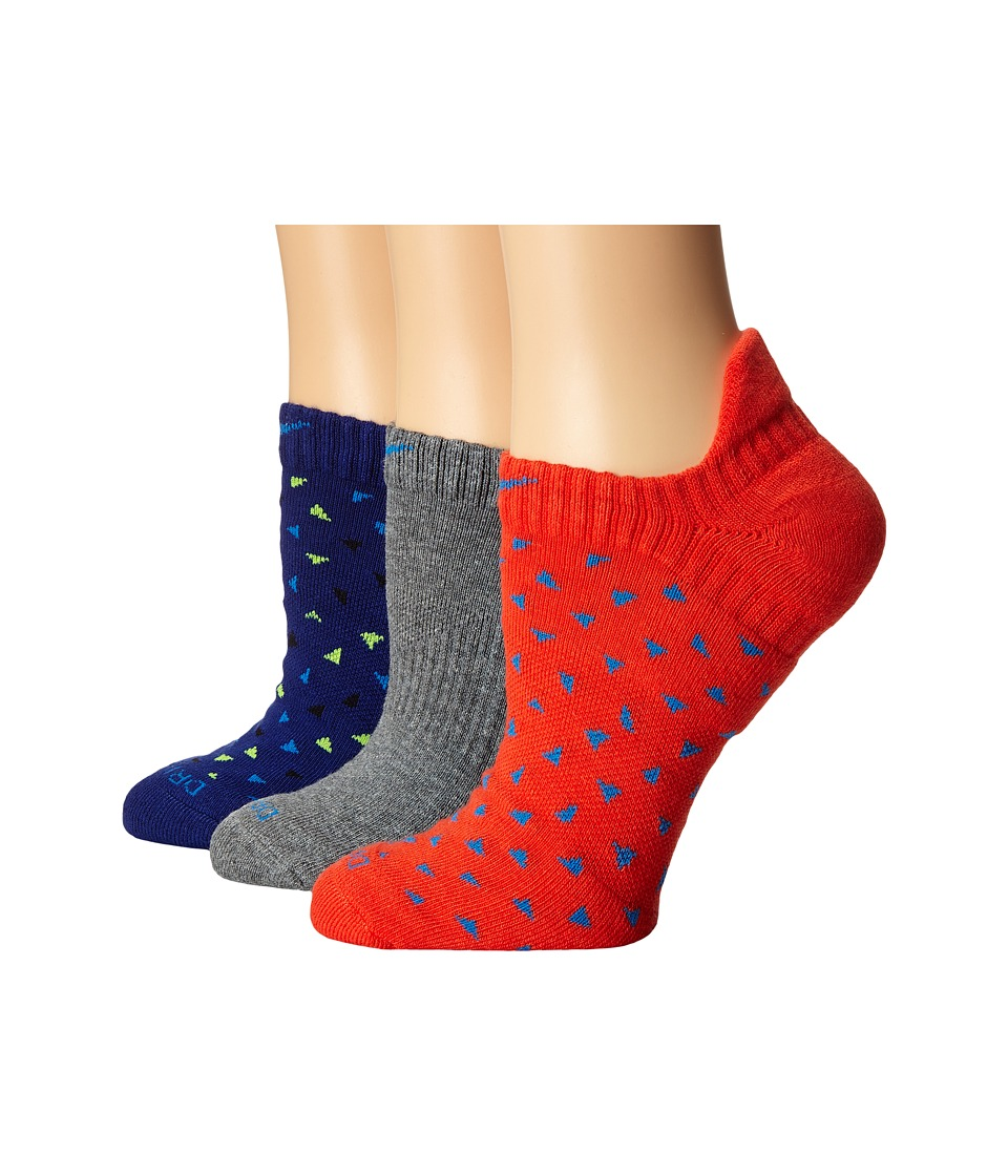 Nike - 3-Pair Pack Dri-Fit Graphic No Show (Multicolor 5) Women's No Show Socks Shoes