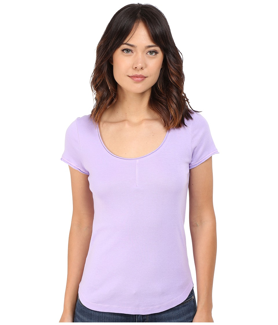 Splendid 1x1 Pin Tuck Tee (Orchid Bloom) Women