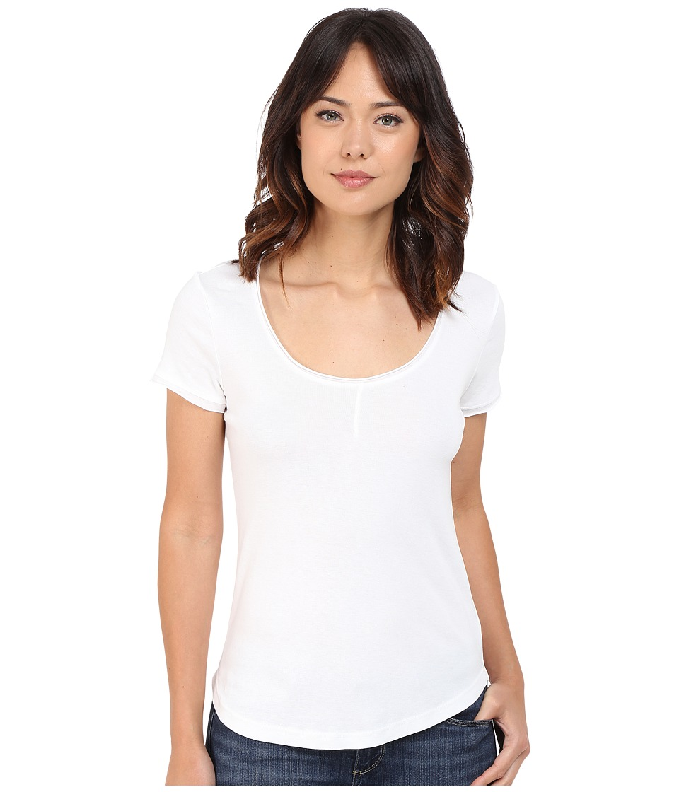 Splendid 1x1 Pin Tuck Tee (White) Women