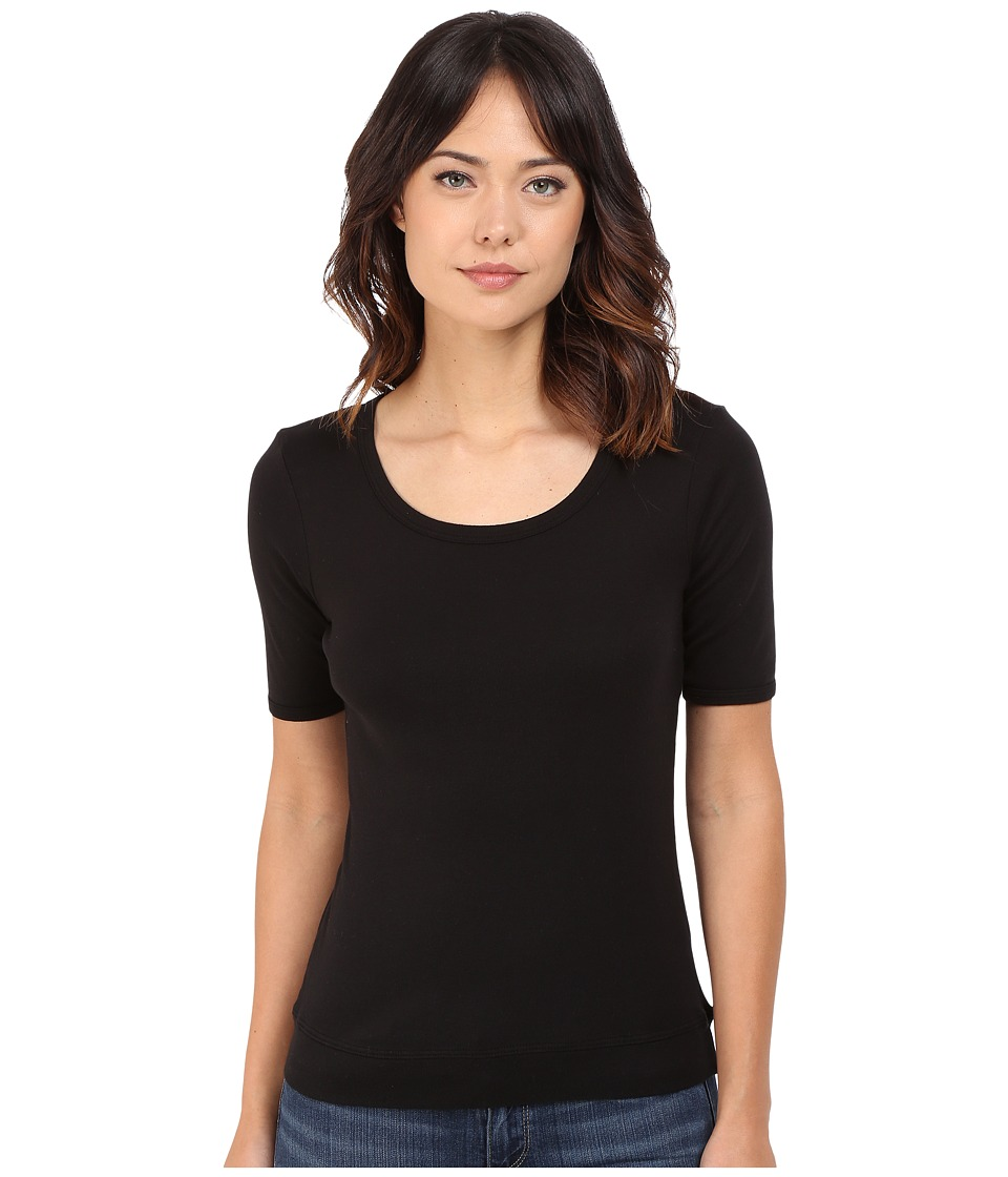 Splendid - Shrunken Tee (Black) Women's T Shirt