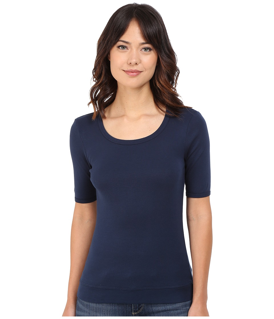 Splendid - Shrunken Tee (Navy) Women's T Shirt