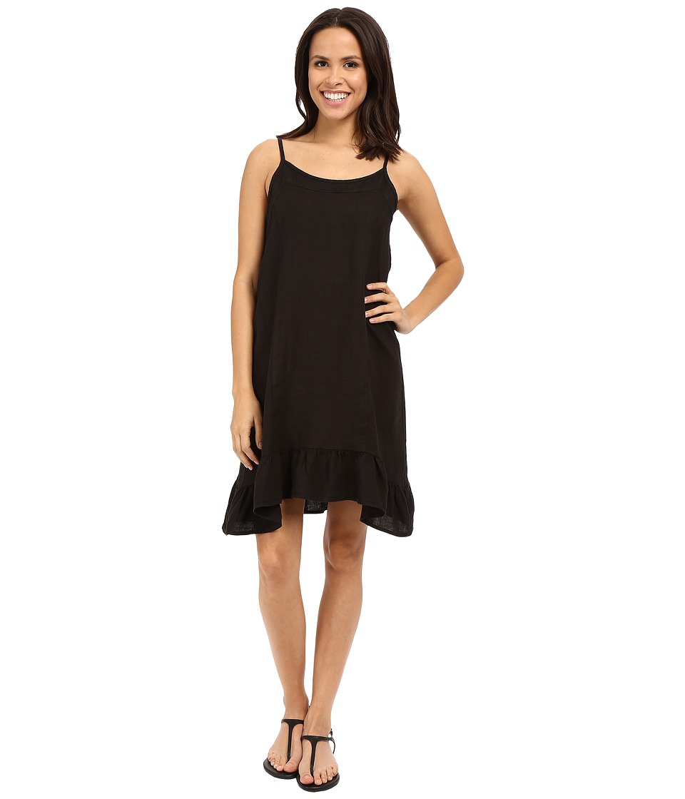 Allen Allen - Linen Tank Dress (Black) Women's Dress