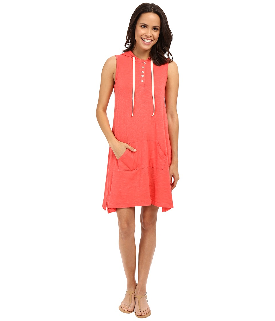 Allen Allen Sleeveless Hooded Henley Dress (Begonia) Women