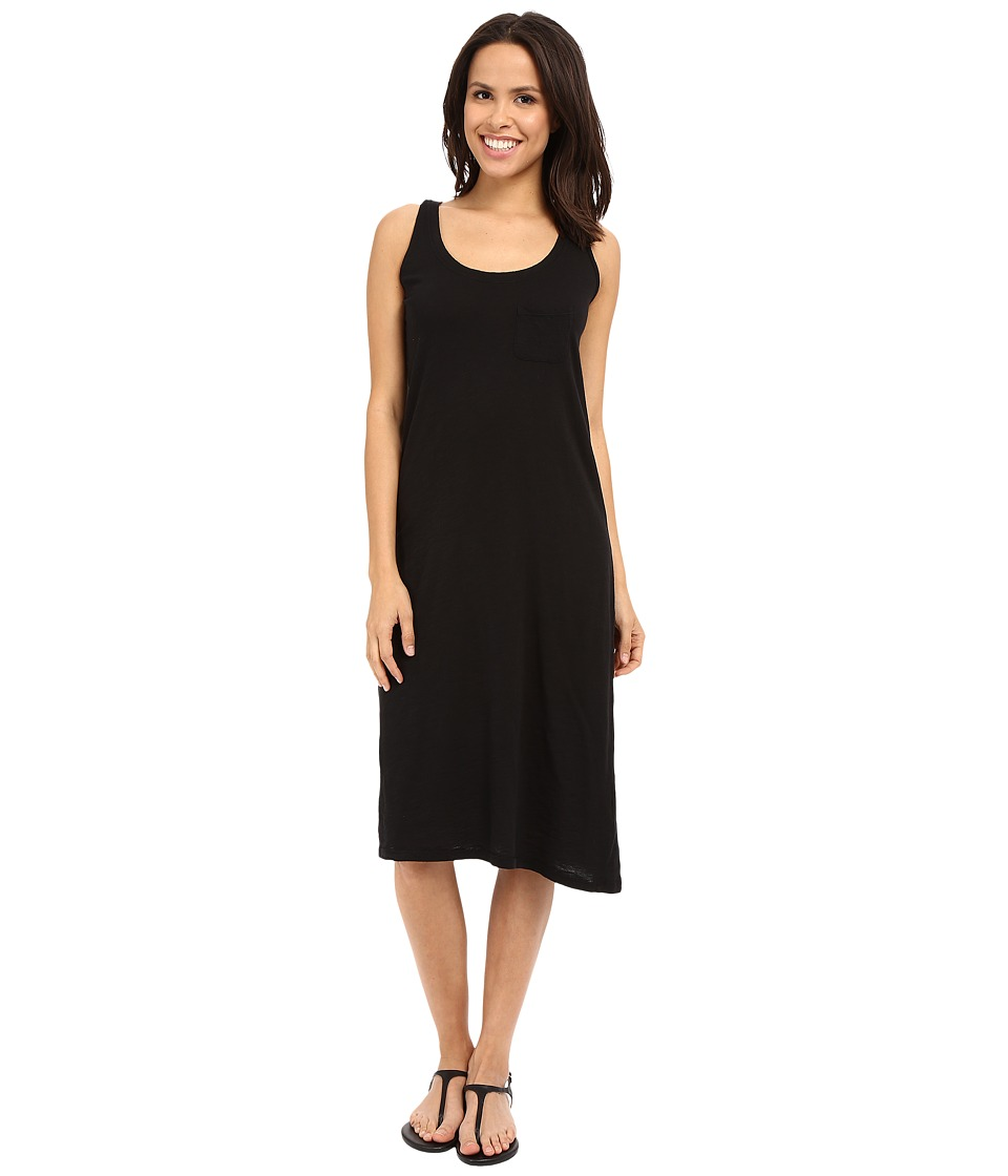 Allen Allen - Racerback Tank Dress (Black) Women's Dress