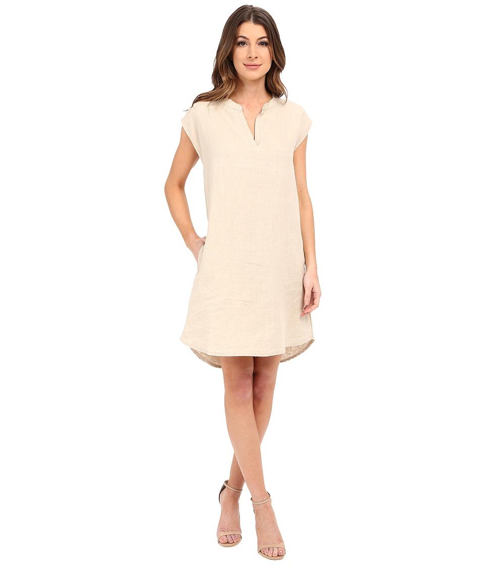 Allen Allen - Sleeveless Split Neck Dress (Flax) Women's Dress