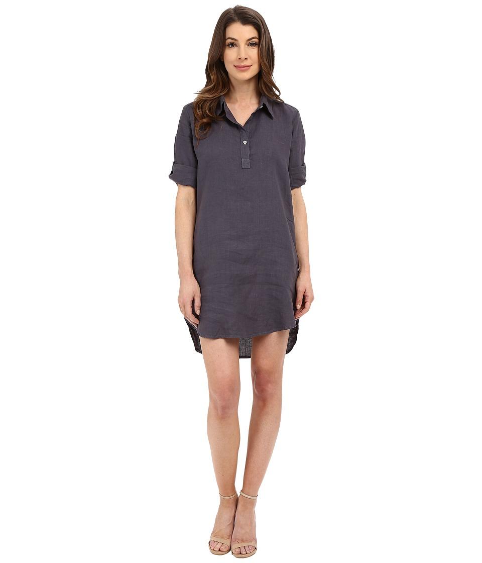 Allen Allen - Roll Sleeve Shirtdress (Flint) Women's Dress
