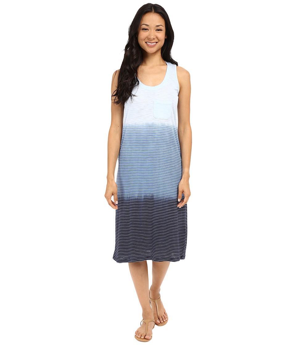 Allen Allen - Dip Dye Tank Dress (Lapis) Women's Dress