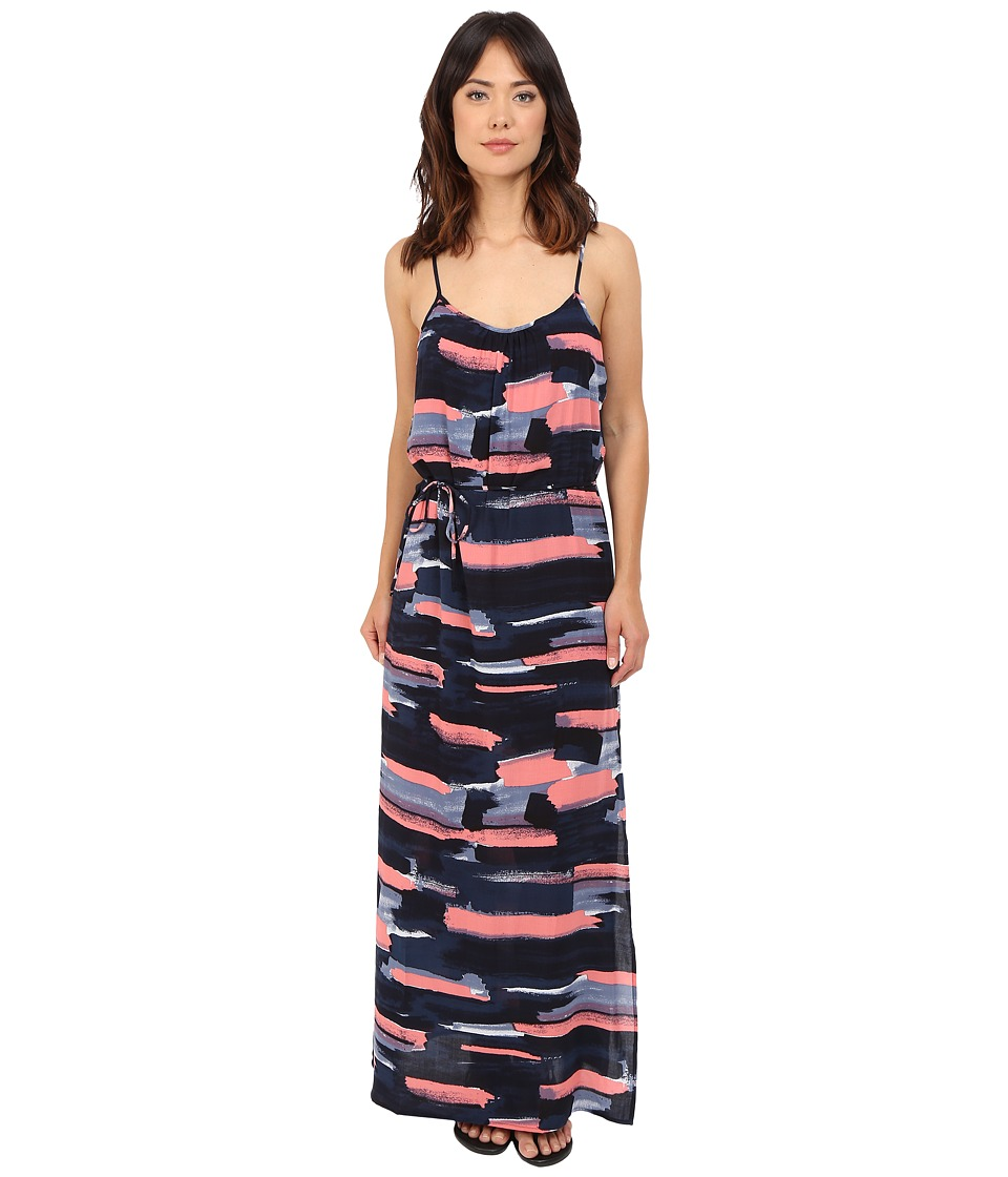 Splendid - Maritime Print Maxi Dress (Navy) Women's Dress