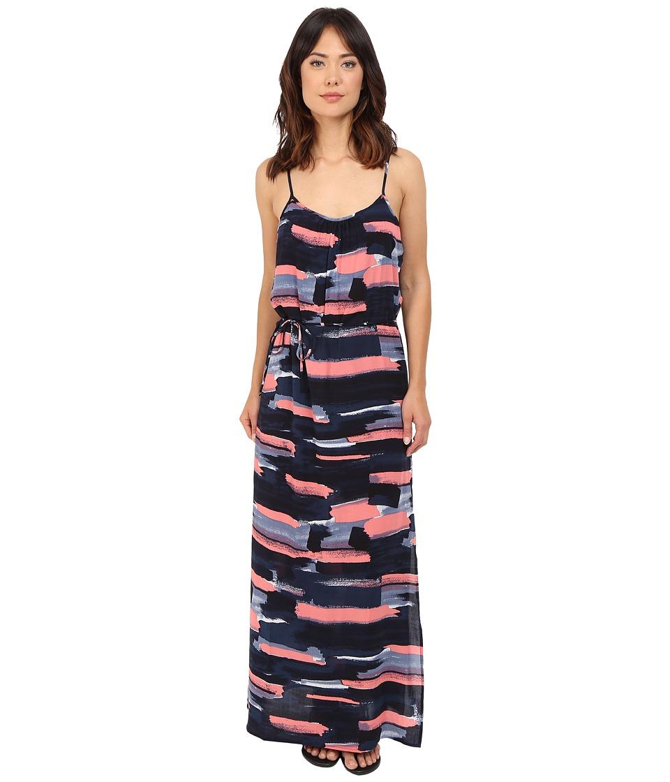 Splendid Maritime Print Maxi Dress (Navy) Women