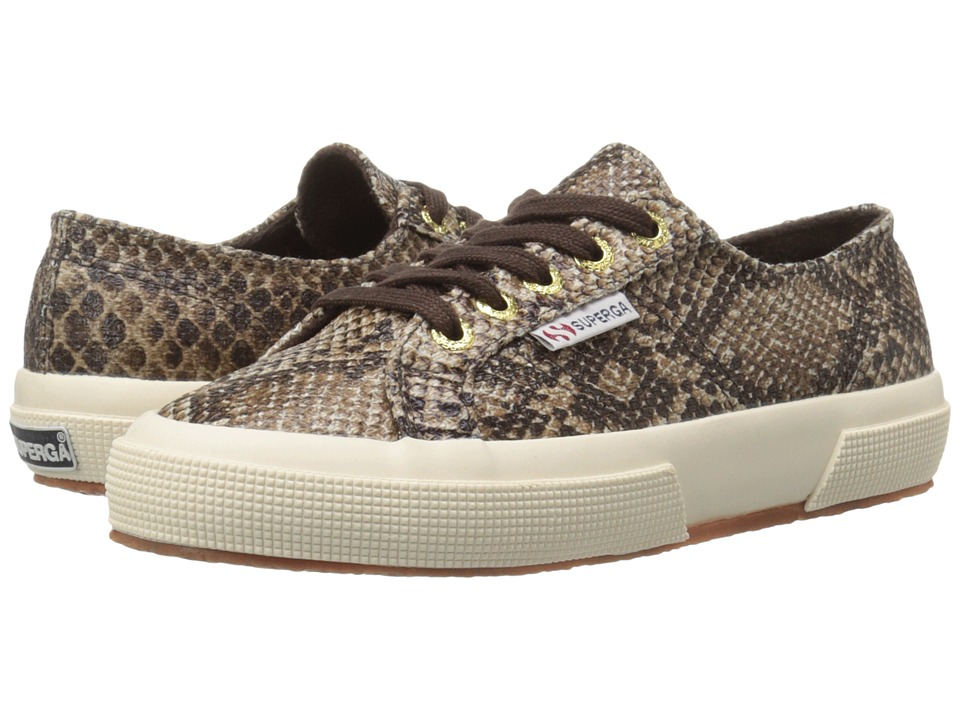 Superga - 2750 Cot Snake W (Brown) Women's Lace up casual Shoes