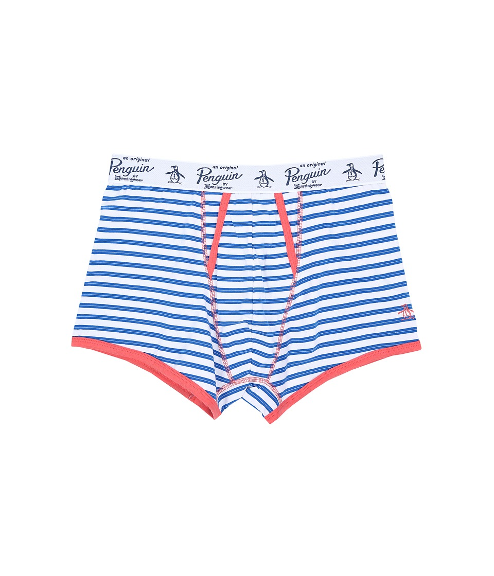 Original Penguin - Single Trunk (Directoire Blue Match Stripe) Men's Underwear