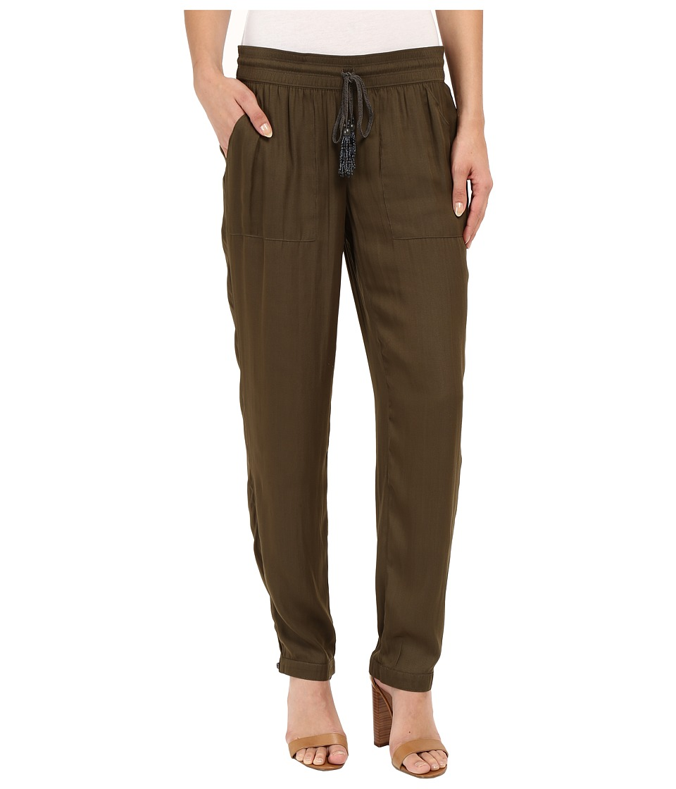 Adrianna Papell Soft Pants w/ Brainded Drawstring (Olive) Women
