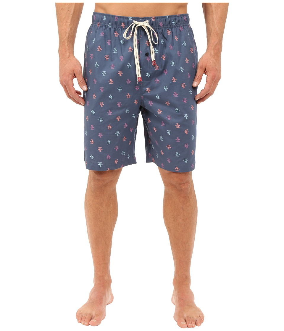Original Penguin - Single Woven Jam (Dark Denim) Men's Pajama