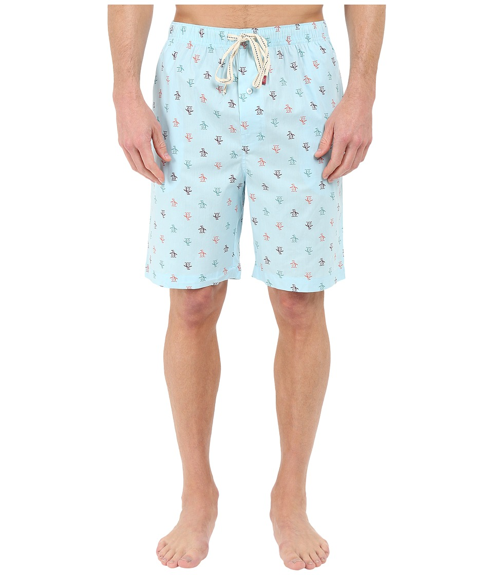 Original Penguin - Single Woven Jam (Crystal Blue) Men's Pajama