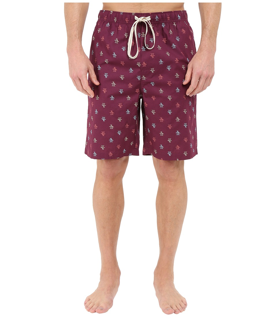 Original Penguin - Single Woven Jam (Grape Wine) Men's Pajama