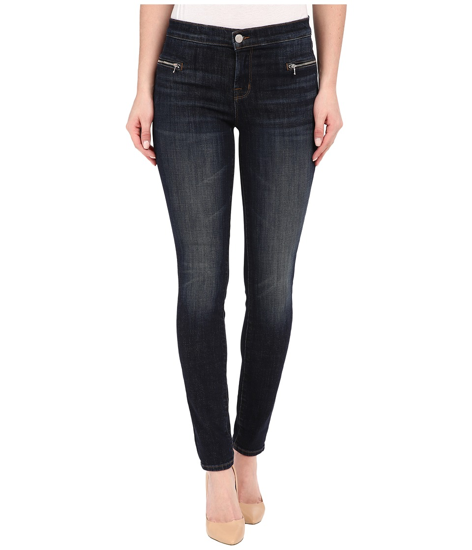 J Brand - Emma Mid-Rise Super Skinny w/ Exposed Front Zipper in Reserved (Reserved) Women's Jeans
