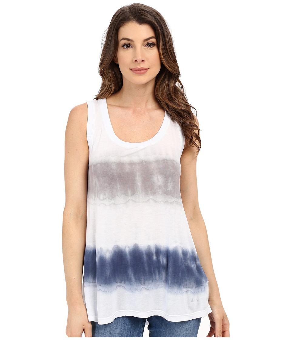 Allen Allen - Tie-Dye Tank Top (Mushroom/Lapis) Women's Sleeveless
