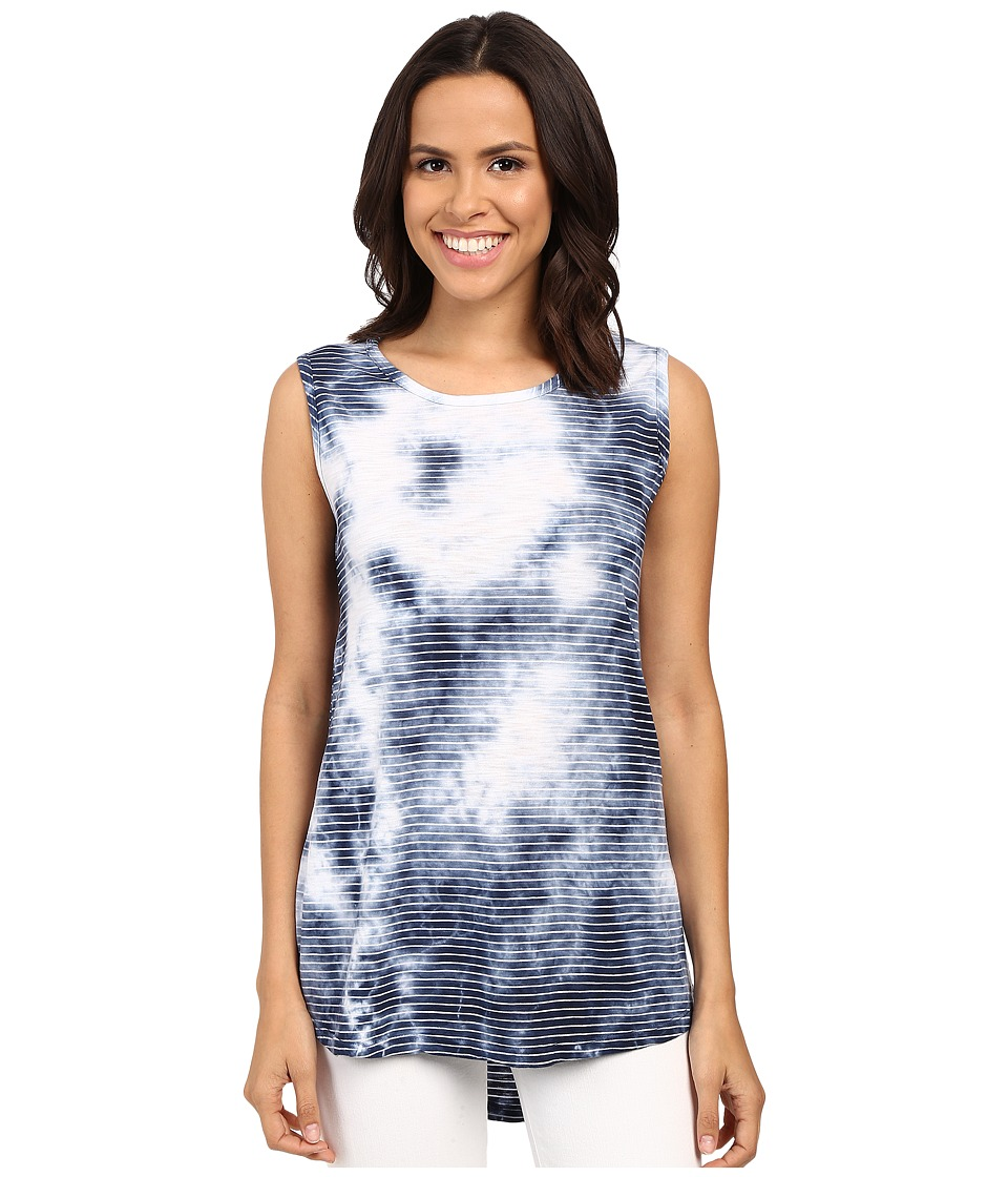 Allen Allen - Crystal Wash Muscle Tank Top (Lapis) Women's Sleeveless